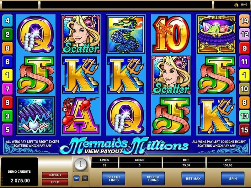 Mermaids Millions – the best Video Slot with 5 reels